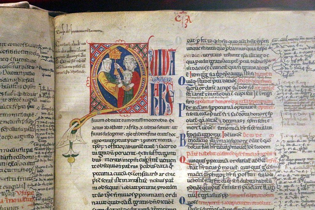 """Biblioteca Medicea Laurenziana manoscritto -Lucca, Graziano, """"Concordia Discordantium Canonum"""", 1150-75 ca. 02.jpg"""