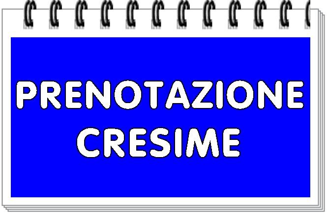 Prenotazione cresime