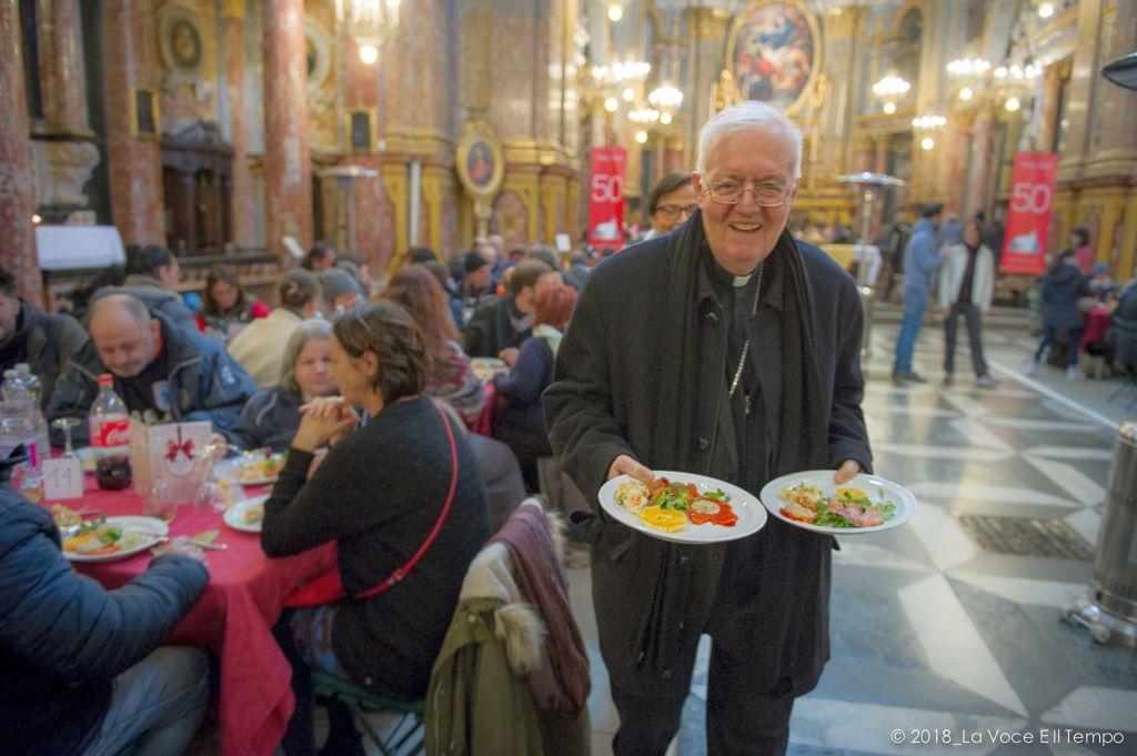 Pranzo di Natale organizzato dalla Comunità di Sant'Egidio, Torino 25 dicembre 2018