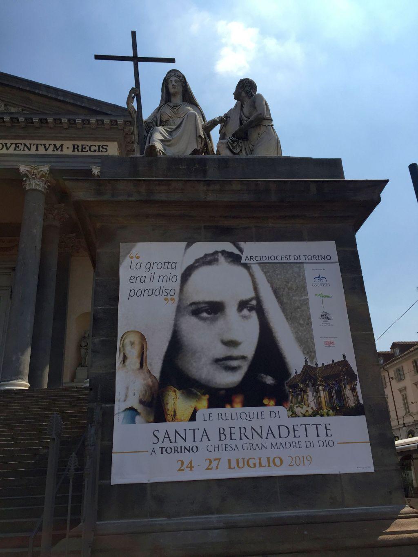 Reliquie di Santa Bernadette Soubirous esposte nella chiesa della Gran Madre di Dio a Torino dal 24 al 27 luglio 2019