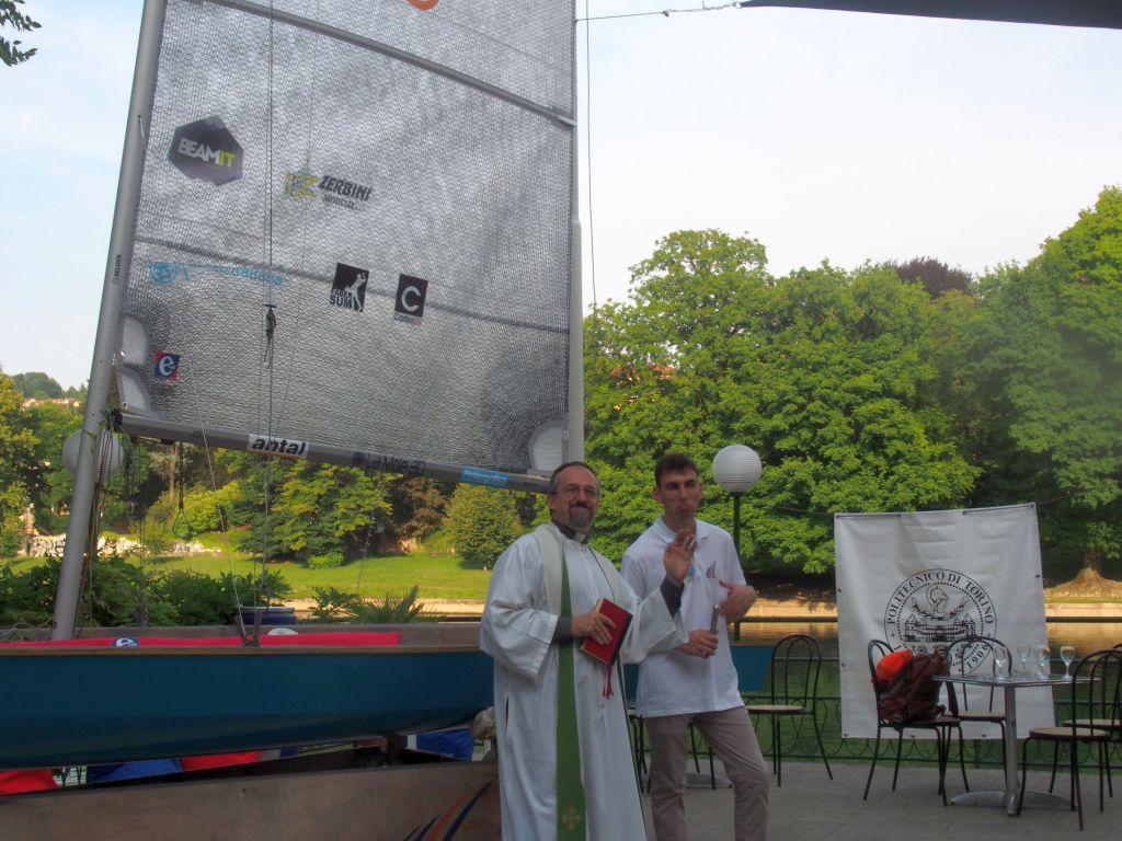 Benedizione della nuova barca a vela del Politecnico di Torino, 22 luglio 2019
