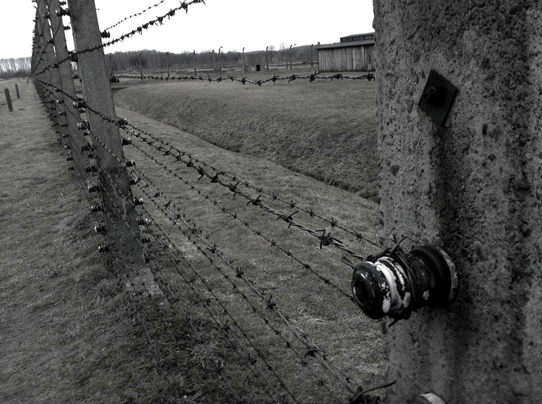 Diocesi Torino: filo spinato in un campo di concentramento