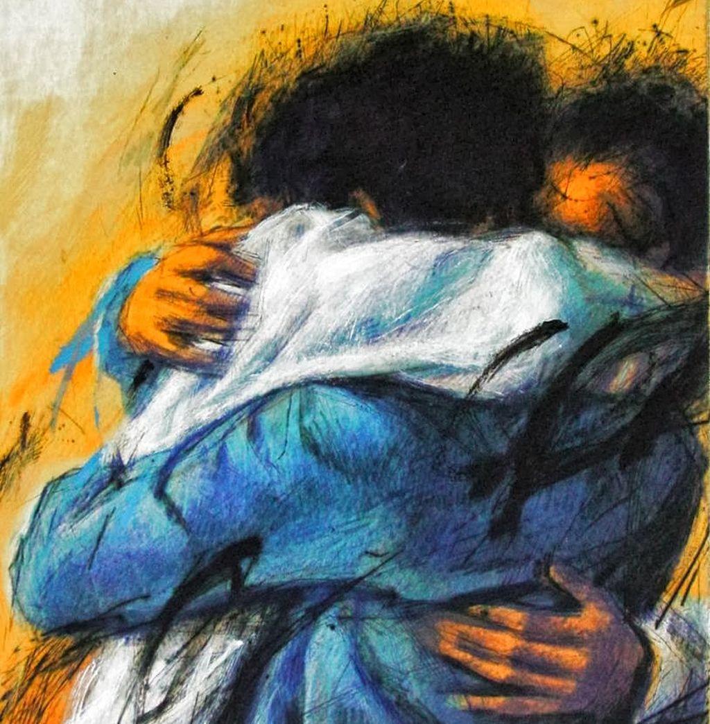 Diocesi Torino: abbraccio fraterno opera di Peter Wever