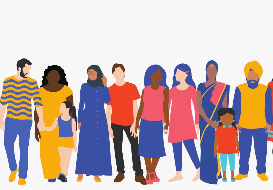 Diocesi Torino: gruppo multietnico sulla locandina della Festa dei Popoli 2020