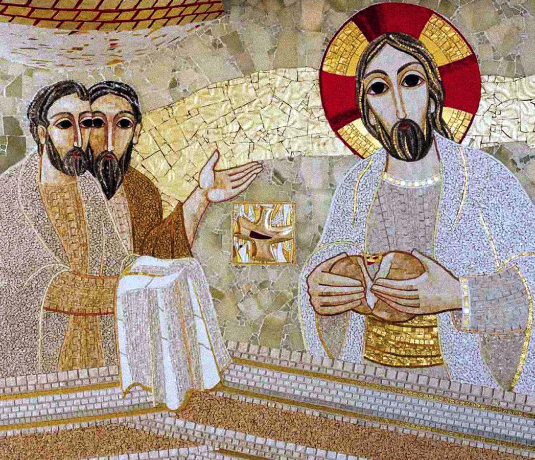 Diocesi Torino: Marko Ivan Rupnik, «Emmaus», Cappella delle Suore del Preziosissimo Sangue a Roma
