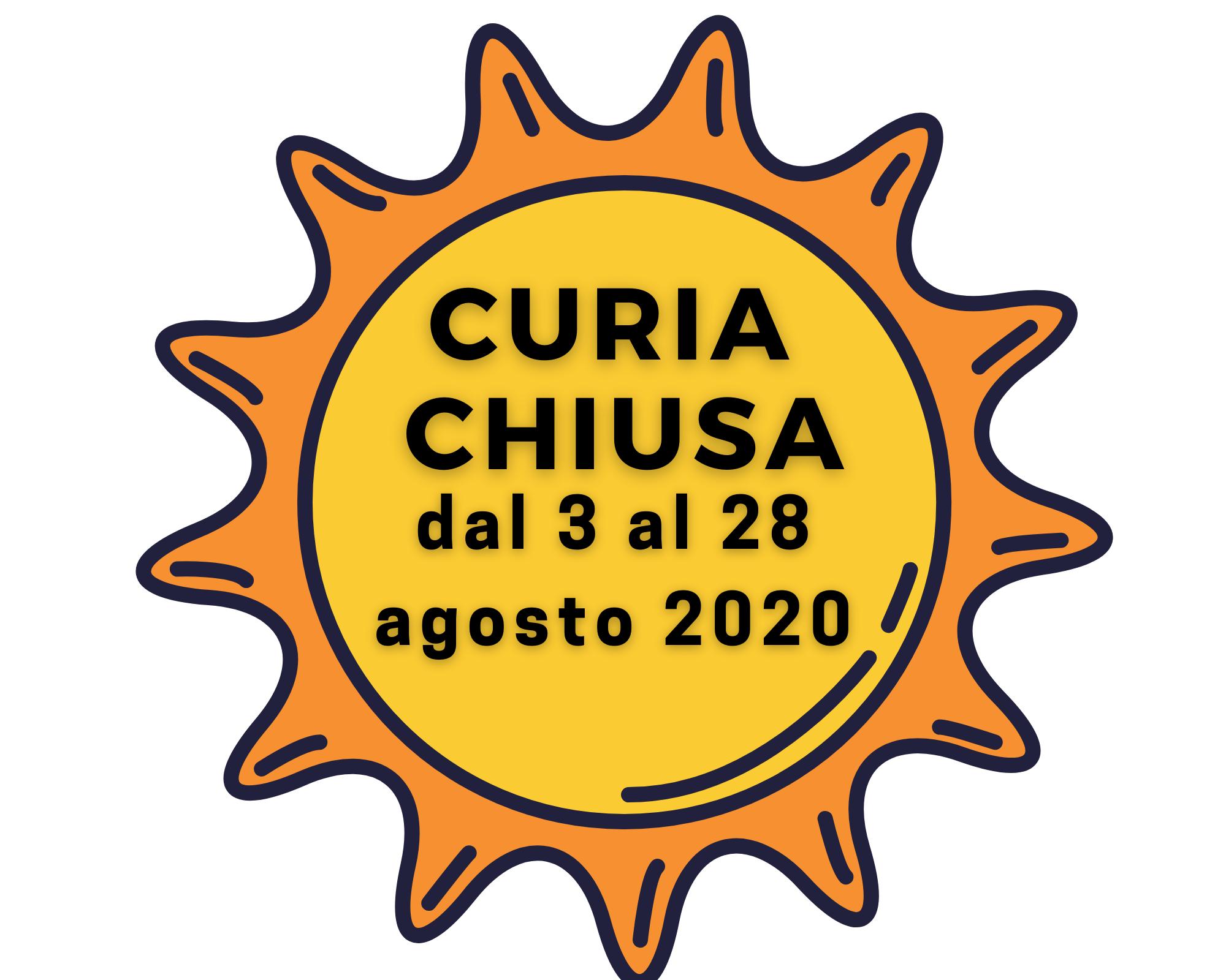 Curia chiusa estate 2020